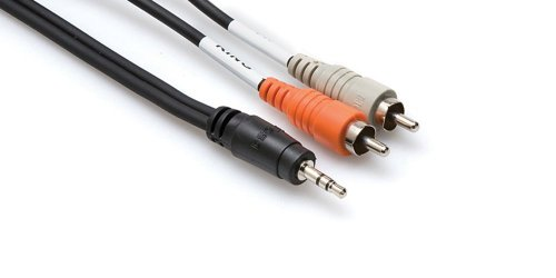 Hosa Cable Cmr206 Stereo 1/8 Inch To Dual Rca Adapter Cable - 6 Foot
