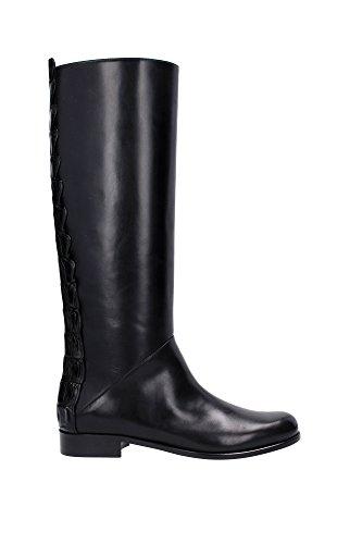 8W49563RBF0ABB-Fendi-Bottes-Montantes-Femme-Cuir-Noir
