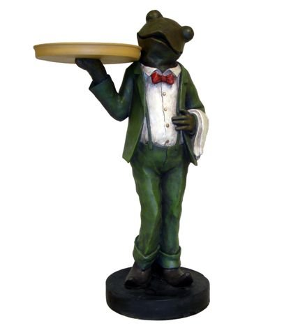 Image of Frog Butler Statue End Table (AS5899)