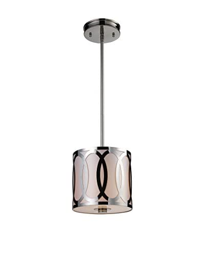 Artistic Lighting Anastasia 1-Light Pendant, Polished Nickel