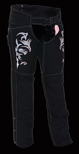 NexGen Women's Doulon P1300 Nylon Twill Chaps (Black/Pink, Small)