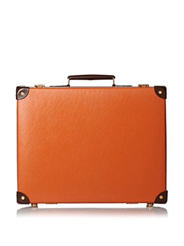 Globe-Trotter 18'' Centenary Slim Attaché, Orange/Tan