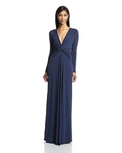 Halston Heritage Women's Deep-V Jersey Gown