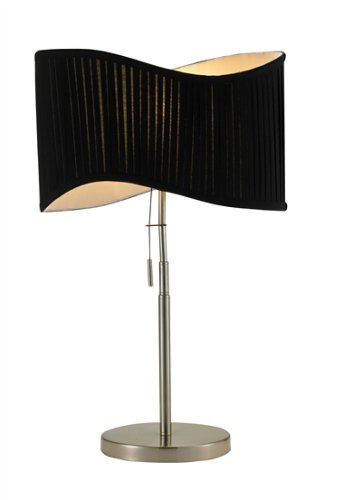 Adesso Symphony Table Lamp, Satin Steel Reviews