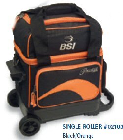 BSI Single Ball Roller Bowling Bag, Black/Orange