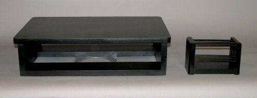 """Tv And Dvd Swivel Stand, Black (20""""W X 13""""D X 5-1/2""""H) With Free Remote Control Organizer"""