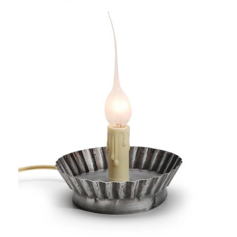 Bulk Buy: Darice Diy Crafts Candle Lamp Electric Pie Tin Base In Antique Pewter 2.5 Inches (6-Pack) 6203-39