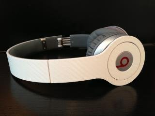 White Carbon Fiber Skin For Beats By Dre Solo (Headphones Not Included)