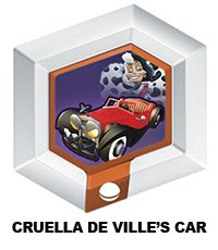 Disney Infinity Series 3 Power Disc Cruella De Ville's Car (from 101 Dalmations) - 1