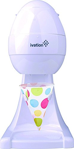 Ivation IS80 Electric Ice Shaver, Snow Cone Maker, Shaved Ice Machine, Ice Snow Shaver, Ice Crusher (White)