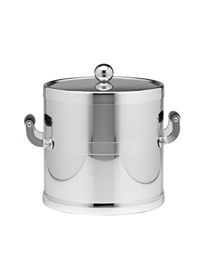 Kraftware Polished Chrome Handled Ice Bucket