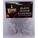 Official Elvira Costume Snake Earrings - Silver