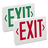 Universal LED Exit Sign with Red Letters, Battery Backup