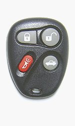 Keyless Entry Remote Fob Clicker for 2001 Chevrolet Corvette - Memory #2 With Do-It-Yourself Programming