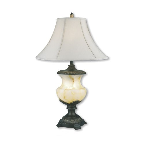 ORE International 8193 32-Inch Alabaster Table Lamp with Night Light