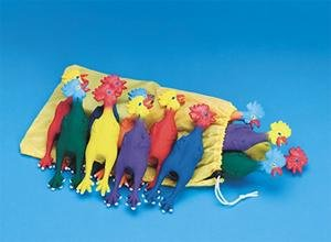 Spectrum Chirping Rubber Mini Chickens (Set of 12)