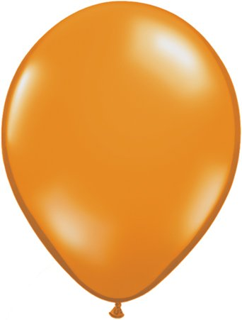"Jewel Mandarin Orange 16"" Qualatex Latex Balloons x 5 - 1"