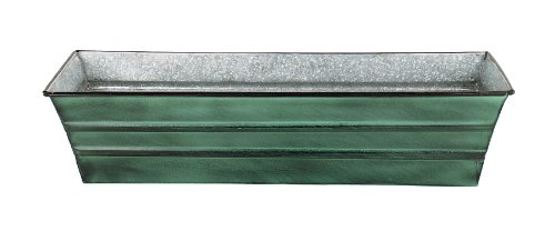 Achla Designs galvanizzato latta scatola di finestra (piccolo, verde patina)