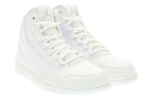 Nike Jordan Executive, Scarpe indoor multisport uomo Multicolore Blanco / Gris (White / Wolf Grey-White) 43