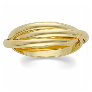 14K Yellow Gold -Band Rolling Ring