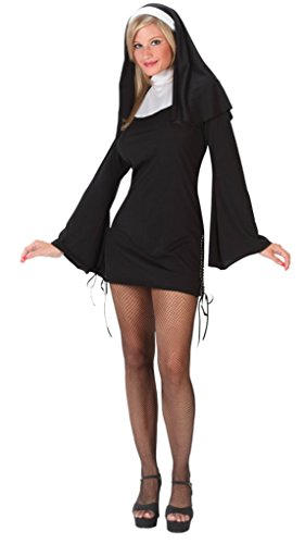 Funworld Womens Religious Sexy Deluxe Naughty Nun Fancy Halloween Costume