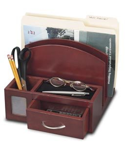 Wood Desktop File Organizer- Cherry - Buy Wood Desktop File Organizer- Cherry - Purchase Wood Desktop File Organizer- Cherry (In 2 Products, Office Products, Categories, Office Supplies, Desk Accessories, Desktop & Drawer Organizers)