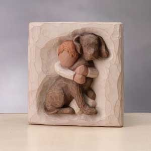 Willow Tree Hug Plaque 26513 by Willow Tree