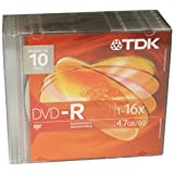 Disc DVD-R 4.7GB 10/Slim Jewel 16X Branded