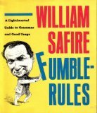 Fumblerules (0385413017) by Safire, William