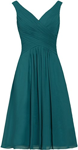 ANTS Women's Tanks Straps Bridesmaid Dresses Short Chiffon Prom Dress Size 16