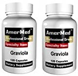 Graviola 1150 mg, 120 capsules (2 BOTTLES) by AmerMed