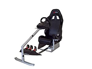 GTR Racing Simulator - Touring Model with Real Racing Seat, Driving Simulator Cockpit Gaming Chair with Gear Shifter Mount by GTR Simulator
