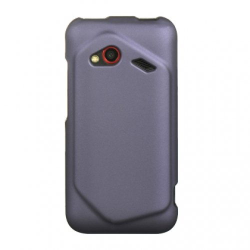 Luxmo Crhtcinc4Gpp Unique Durable Rubberized Crystal Case For Hc Droid Incredible 4G Lte - Retail Packaging - Purple