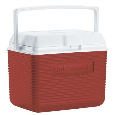 Rubbermaid 10 Qt. Red Chest Cooler Holds 12 Cans Plus Ice (Travel Cooler Rubbermaid compare prices)