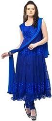 Mannat Fashion White Plus Color Georgette Suit- Dress Material