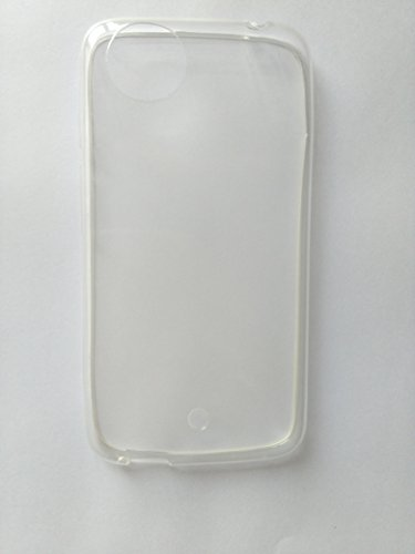 Dashmesh Shopping Ultra Thin Transparent Clear Silicone jelly gel case Back cover for Micromax Android One A1 & SCREEN GUARD