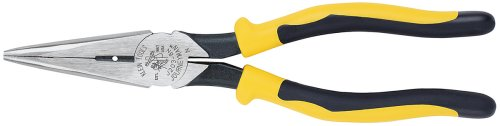 Klein Tools J203-8N 8-Inch Journeyman Heavy Duty Long Nose Pliers, Yellow And Black