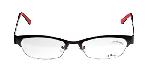 ogi-4011-womens-ladies-designer-half-rim-eyeglasses-glasses-51-18-140-dark-gray