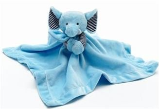 Carter's Snuggle Buddy Security Blanket Plush Elephant Baby Toy