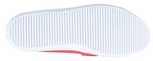 Lacoste Women's Marice LCR Fashion Sneaker (6.5, Red)