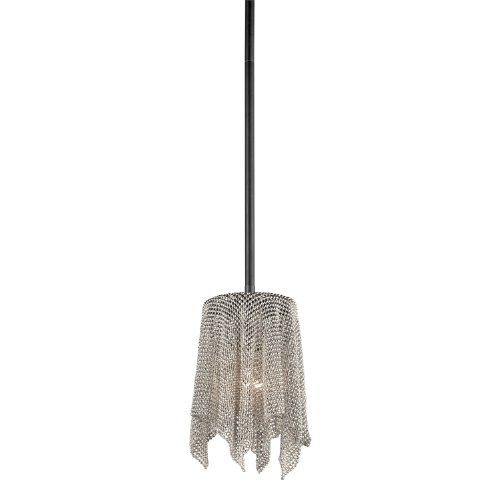 Kichler Lighting 42679Ni Transitional 1-Light Mini-Pendant, Brushed Nickel Finish