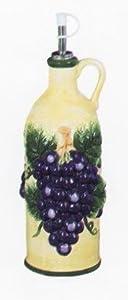 VINTAGE GRAPE Oil / Vinegar Ceramic Cork Bottle *NEW*!
