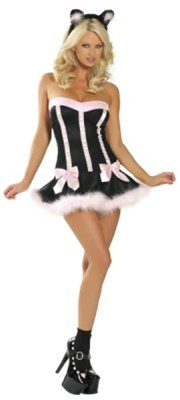 Sexy Bad Kitty Costume - Pink and Black