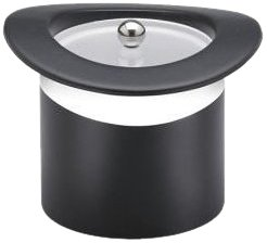 Kraftware Top Hats Black With White 3-Quart Top Hat Ice Bucket With Band And Lucite Cover