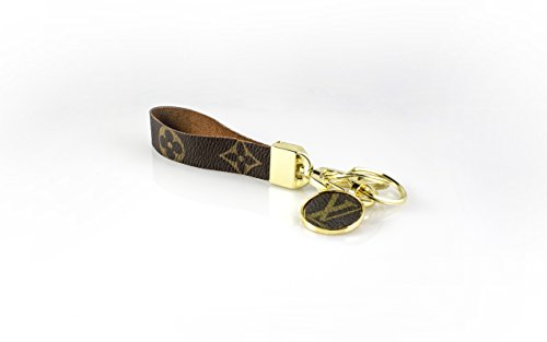 valet-set-designer-upcycled-monogram-and-floral-canvas-2-piece-keychain-with-gold-tone-hardware-doub