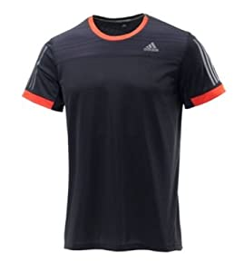 adidas Supernova M T-Shirt Homme Black/Dark Orange FR : M (Taille Fabricant : M)