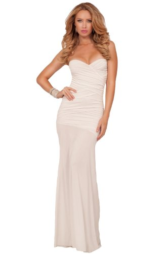 Strapless Gown Formal Evening Party Special Occassion Long Maxi Dress