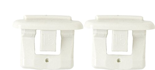 Pack of 2 Dishwasher End Cap for Upper Rack Rail (Dish Rack Stop Clip) New OEM GE, Kenmore, Hotpoint (Dishwasher Top Rack End Caps compare prices)