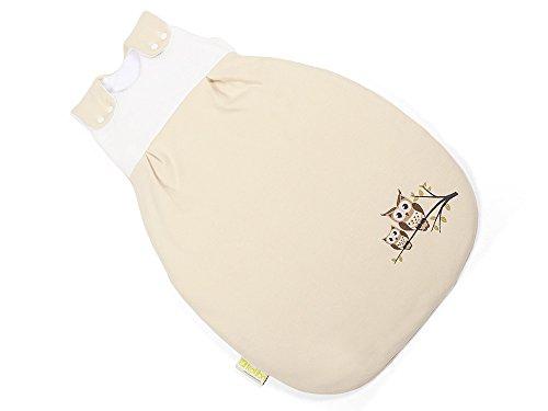 BABYSCHLAFSACK, größenverstellbar, (ÖKO-TEX zertifiziert) Eule, Geschenk zur Geburt, für neugeborenes Mädchen und Jungen, 50/56 - kb-kol-3001