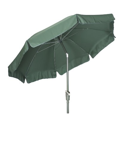 Acamp Parasol with Valance 2.7m - Dark Green/Dark Green Pole